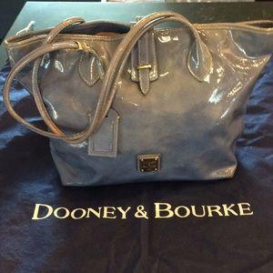Dooney & Bourke patent blue purse